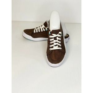 KEDS Womens Lace Up Brown Mule Sneakers Size 8 1/2